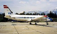 120 @ LGTT - Grumman G-159 Gulfstream I [120] (Greek Air Force) Dekelia-Tatoi~SX 02/04/1998 - by Ray Barber