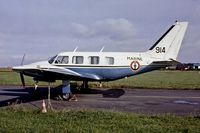 914 @ LFPN - Piper PA-31-310 Turbo Navajo B [31-7300914] (French Navy) Toussus Le Noble~F 13/09/1980 - by Ray Barber