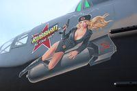 N747AF @ LAL - B-25J Mitchell nose art Russian to get Ya