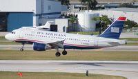 N758US @ FLL - US Airways A319