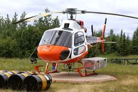 C-GWTQ @ CYOP - On standby for forest fire detail in Rainbow Lake, Alberta - by Guy Pambrun