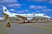 100001 @ EGVA - SAAB-Scania SF.340 OS100B [170] (Swedish Air Force) RAF Fairford~G 22/07/1995