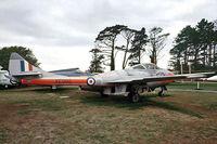 XE995 - XE995   de Havilland DH.115 Vampire T.11 [15675] (Royal Air Force) Torbay~G 13/09/1976