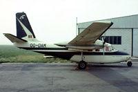 OO-DAM @ EBAW - Aero Commander 500B [893-1] Antwerp-Deurne~OO 14/08/1977.From a slide.