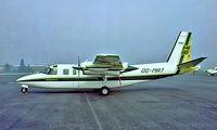 OO-MRT @ EBAW - Rockwell Turbo Commander 690B [11357] (Hassennautic Neptunus) Antwerp-Deurne~OO 14/08/1977. From a slide.