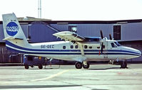 SE-GEC @ EKCH - De Havilland Canada DHC-6-300 Twin Otter [375] (Swedair) Copenhagen-Kastrup~OY 07/06/1982. From a slide.