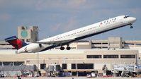 N947DN @ PBI - Delta MD-90