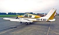 OO-KAG @ EBGB - Gardan GY-80 Horizon 180 [211] Brussels-Grimbergen~OO 14/09/1985. From a slide.