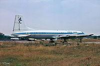 5Y-ALT @ EGSS - Brisol 175 Britannia 313 [13431] (African Safari Airways) Stansted~G 09/09/1974 - by Ray Barber