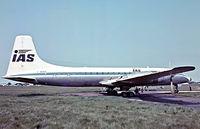 G-AOVS @ EGKB - Bristol 175 Britannia 312F [13430] (IAS) Biggin Hill~G 18/05/1974. From a slide.