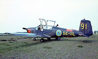 SE-IIL @ EKVJ - Saab S.91B Safir [91-211] Stauning~OY 05/06/1982. From a slide.