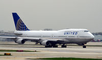 UNKNOWN @ KORD - United B747 taxi O'Hare - by Ronald Barker