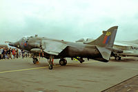 XV779 @ EGVI - BAe Systems Harrier GR.3 [712029] (Royal Air Force) RAF Greenham Common~G 23/07/1983. From a slide.