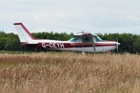 G-CEYH @ EGFH - Visiting Cessna 152 operated by Cornwall Flying Club. - by Roger Winser