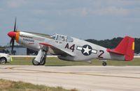 N61429 @ LAL - P-51C Mustang red tail