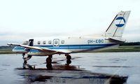 OH-EBC @ EFHK - Embraer EMB-110P1 Bandeirante [110258] (Finnair) Helsinki-Vantaa~OH 13/06/1988. From a slide. - by Ray Barber