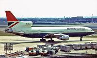 G-BBAI @ EGLL - Lockheed L-1011 TriStar 1 [1102] (British Airways) Heathrow~G 07/07/1977. From a slide.