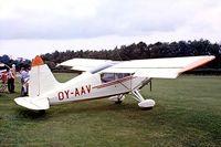 OY-AAV @ EGTH - S.A.I. KZ VII U-4 Laerke [160] Old Warden~G 13/07/1980. From a slide.