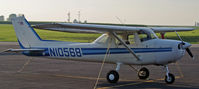 N10568 @ KCWI - Sitting at the Clinton Airport for the Cessna 150 fly in - by Floyd Taber
