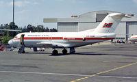 LN-SUN @ ENFB - Fokker F-28-1000 Fellowship [11012] (Braathens SAFE) Oslo-Fornebu~LN 18/06/1985. From a slide.