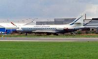 F-WQCV @ EBKT - Sud Aviation SE.210 Caravelle 11R [264] (Eureka Aviation) Kortrijk-Wevelgem~OO 01/09/1996