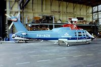 PH-NZN @ EHAM - Sikorsky S-76A+ [760042] (KLM Helicopters) Amsterdam-Schiphol~PH 14/06/1980. From a slide.