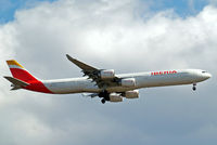 EC-LEU @ EGLL - Airbus A340-642 [960] (Iberia) Home~G 06/07/2014. On approach 27L.