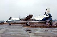 EC-CAU @ EHWO - Fokker F-27-600 Friendship [10396] (Aviaco) Woensdrecht~PH 30/08/1976. From a slide.