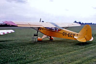 OY-ECT @ EGTH - Piper J-3C-65 Cub [22617] Old Warden~G 13/07/1980. From a slide.