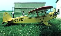 OY-ECT @ EKKM - Piper J-3C-65 Cub [22617] Kirstinesminde~OY 06/06/1982. From a slide.