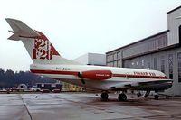 PH-ZBM @ EHWO - Fokker F-28-1000 Fellowship [11048] (Fokker) Woensdretch~PH 30/08/1976. From a slide.