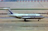 F-BUTE @ EGKK - Fokker F-28-1000 Fellowship [11031] (TAT-Air France) Gatwick~G 01/07/1974. From a slide date approximate.