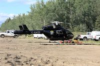 C-GHFZ - On standby for forest fire detail in Zama City, Alberta - by Guy Pambrun