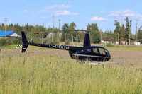 C-GOUW - On standby for forest fire detail in Zama City, Alberta - by Guy Pambrun