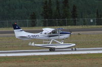 C-GSYT @ CYXY - On amphibious floats, taking off at Whitehorse, Yukon. - by Murray Lundberg