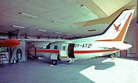 OY-ATZ @ EKRK - Mitsubishi MU-2J (MU-2B-35) [626] (Falcks)Copenhagen-Roskilde~OY 07/06/1982. From a slide.