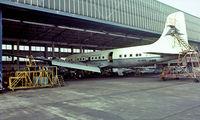 OO-VFG @ EBAW - Douglas DC-6B [45077] (DAT-Delta Air Transport) Antwerp-Deurne~OO  14/08/1977. From a slide.