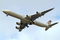 A6-EHF @ EGLL - Airbus A340-642 [837] (Etihad Airways) Home~G 15/08/2009. On approach 27R. - by Ray Barber