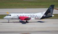 N343AG @ FLL - Silver Saab 340