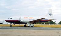 N860FW @ KFTW - Convair 640F SCW  [10] (Kitty Hawk) Fort Worth Meacham International~N 12/10/2000