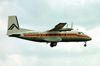 F-BVRV @ EGKK - Nord 262A-45 [100] (Air Alsace) Gatwick~G 01/07/1974. From a slide
