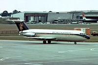 G-ASJC @ EGKK - BAC 1-11 201AC One-Eleven [007] (British Caledonian) Gatwick~G 01/07/1974. From a slide.