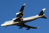 B-HUG @ EGLL - Boeing 747-467 [25870] (Cathay Pacific) Home~G 17/12/2012. On approach 27R. - by Ray Barber