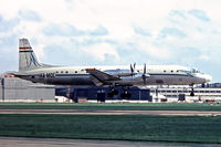 HA-MOE @ EGLL - Ilyushin Il-18V [182005505] (Malev- Hungarian Airlines) Heathrow ~G 01/07/1970. About to touch down 28R. Date approximate. From a slide.
