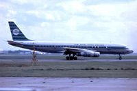 PH-DCU @ EGLL - Douglas DC-8-55 [45859] (KLM Royal Dutch Airlines) Heathrow~G 01/06/1970. Departing 28R. Date approximate. From a slide.