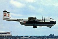 G-ASXM @ EGLL - Armstrong-Whitworth Argosy 222 [6801] (BEA British European Airways) Heathrow~G 01/06/1969. Finals 28R date approximate. From a slide.
