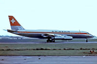 HB-ICA @ EGLL - Convair 990 30A-6 Coronado [30-10-07] (Swissair) Heathrow~G 01/07/1969. Departing 28R. Date approximate. From a slide.