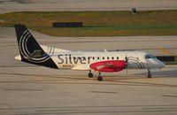 N417XJ @ FLL - Silver Saab 340