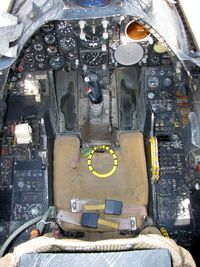 157455 - Cockpit of 157455 as it looks after restoration (some console panels are still missing, blank plates installed) - by Gustav Hebrok