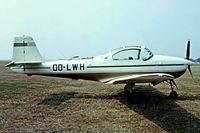 OO-LWH @ EHHV - Piaggio FWP-149D [052] Hilversum~G 29/08/1976. From a slide.